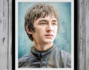 Bran Stark Portrait, Season 6, Game of Thrones