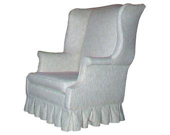Avante-Garde High Back Upholstered Wing Chair