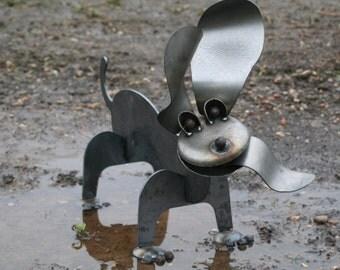Metal Dachshund Sculpture, Steel Wiener Dog!