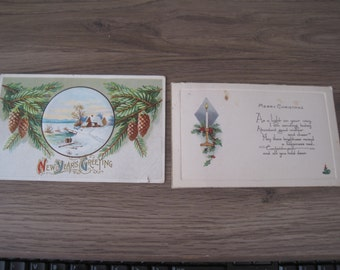 Vintage Holiday Christmas and New Year's Postcards