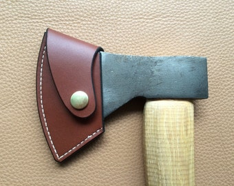 Robin Wood Carving axe blade cover. Handmade 3.5mm Leather