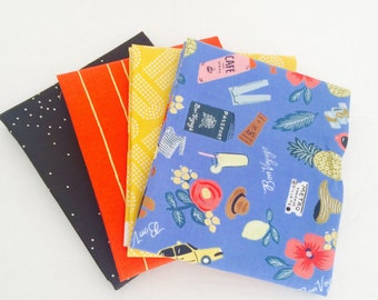 Fat Quarter Bundle Les Fleurs and mixed fabrics with Sprinkles by Cotton and Steel