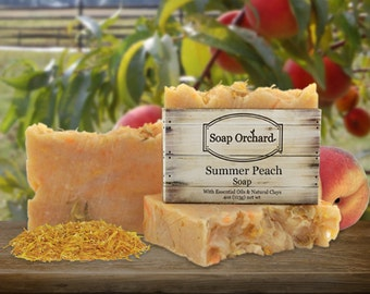 Summer Peach Natural Soap Bar
