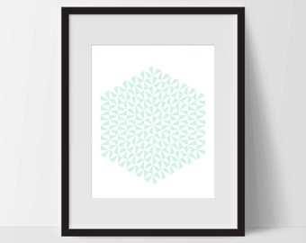 Geometric Print Art, Geometric Art, Geometric Printable, Digital Art Print, Geometric Print, Instant Download, Modern, Green