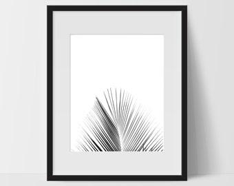 Wall Print Art, Tropical Art Printable, Tropical Decor, Digital Art Print, Big Leaf Print, Tree, Hawaiian, Exotic Prints, Black and White