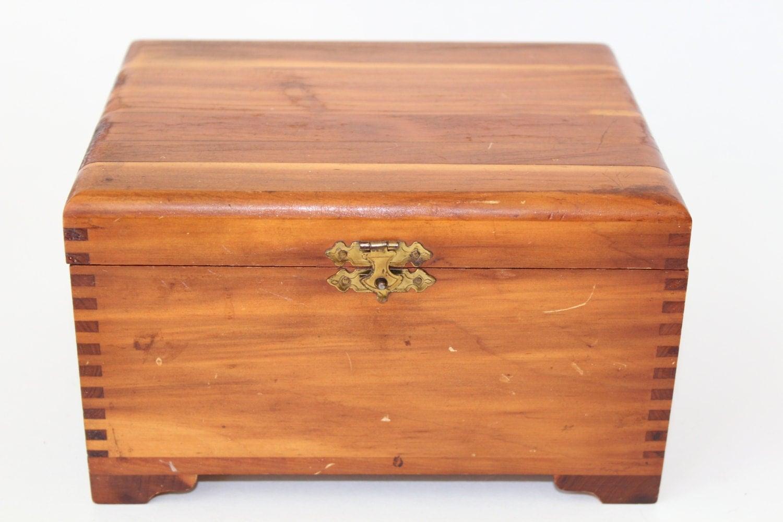 Vintage wooden keepsake box 8 x6 storage box wood - Small rustic wooden boxes ...