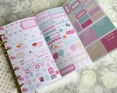 Lilac Personal Foldout! One tri-folded sheet, for your personal ring bound planner, Kikki K, Filofax, Kate Spade and Color Crush