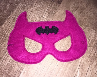 Hot Pink Bat Girl Mask (cosplay, costume, dress up)