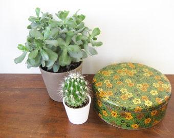 Vintage Floral Cookie Tin