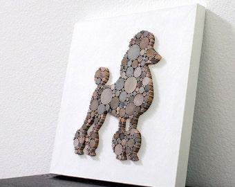 Modern Rustic Dog Wall Decor, Poodle Art, Minimalist Dog Decor
