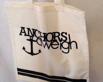 Anchors Aweigh Cotton Tote Bag