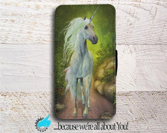 Samsung Wallet Phone Case Unicorn phone case for Samsung Galaxy S5 S6 S7 S8 Edge Neo and Mini Can add initials or Name!