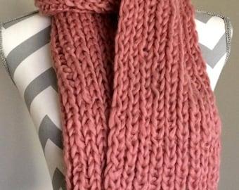 Soft Wool Chunky Muffler, Woolen scarf, Soft scarf