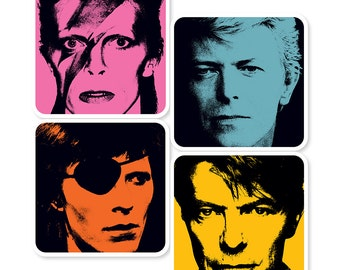 David Bowie Pop Art Coasters (set of 4)