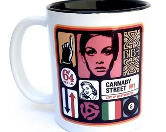 Pop Art Coffee Mug (Twiggy)