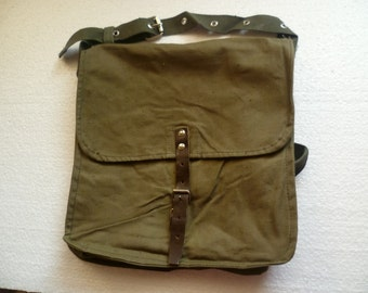Vintage Military Green Canvas Bag,