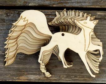 10x Wooden Fox with Bushy Tail Craft Shape 3mm Plywood Wildlife Animal