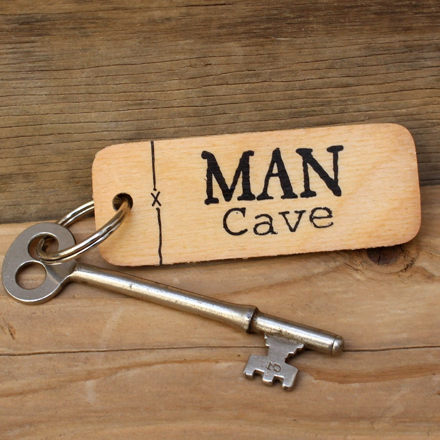 Rustic Man Cave Reviews : Man cave rustic wooden keyring