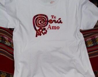 Original bright leather peruvian purse for Peruvian cotton t shirts