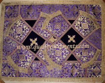 Chalice Veils Covers Orthodox  Purple Gold Metallic  Brocade LARGE Gorgeous!