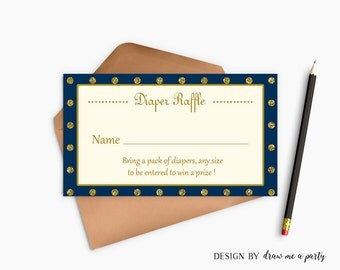 Prince Baby Shower , Prince Diaper Raffle , Royal Baby Shower , Royal and Blue Diaper Raffle , Prince Cards Printable , Instant Download