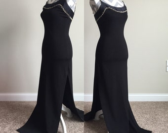 Vintage Cache Formal Dress with High Slits Size Small
