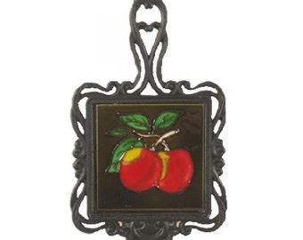 Square Trivet C/W Apples
