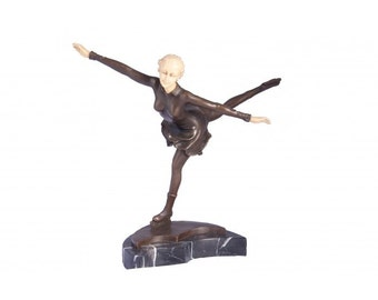 Lipenski Bronze Figure Skater Sculpture