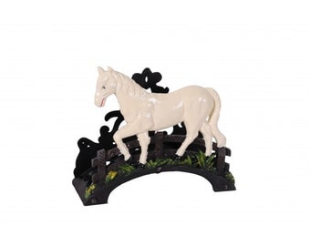 Sweet Meadow Garden Hose Holder with Pony scene