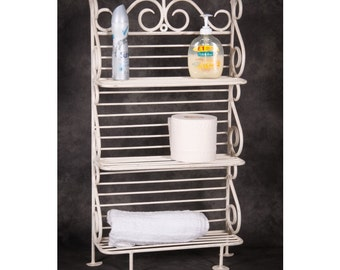 alnwick house free standing wrought iron vintage bathroom shelves