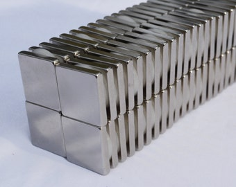"SQUARE MAGNETS 1/2"" x 1/2 x 1/8 - 25/50/100 STRONGEST N52 Rare Earth Neodymium (52)"