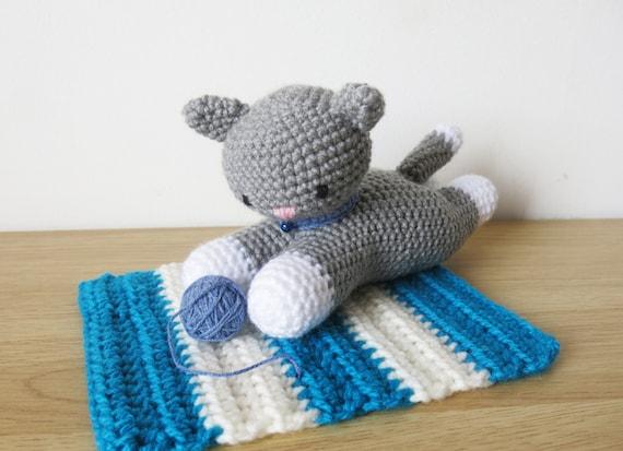 Amigurumi Cat Toys : Cat toy adopt amigurumi cat stuffed toy cat plush plush