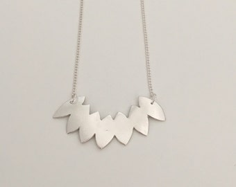 Petals pendant necklace, fine silver with sterling silver chain