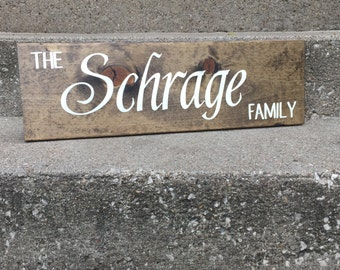 Family Sign -- 8 x 24 - {Wedding, Anniversary, Bridal Shower, Gift, Home Decor}