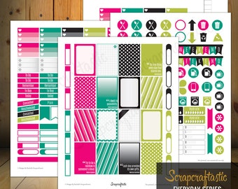 Planner Pro Everyday Series Printable Planner Stickers for the Classic MAMBI Happy Planner
