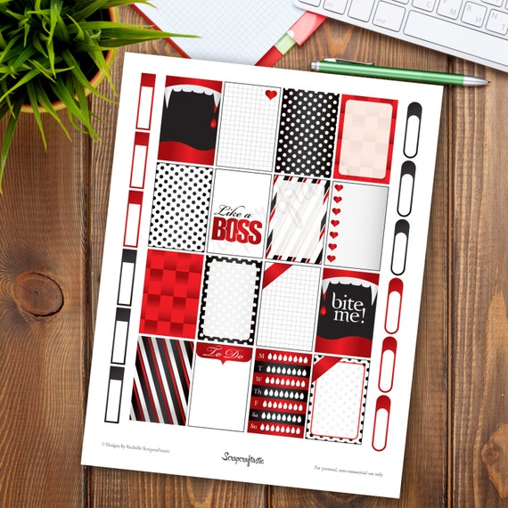 Vamped Printable Planner Stickers for the Classic MAMBI Happy Planner