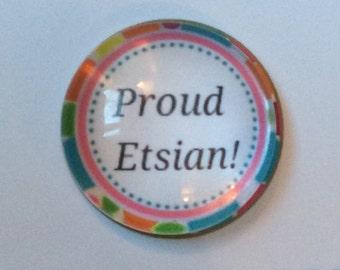 Proud Etsian Snap Button