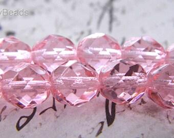 Pink Bliss Czech Beads, Czech Beads, 8mm Beads, cb1702