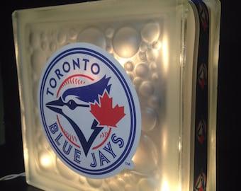 Customized Toronto Blue Jays MLB Lighted Glass Block Decoration Night Light Bar Light