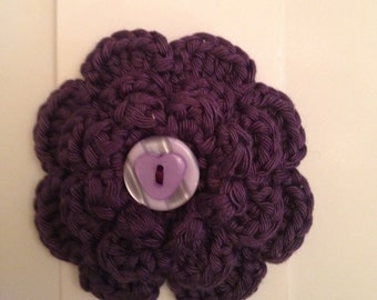 Cotton Button Brooch