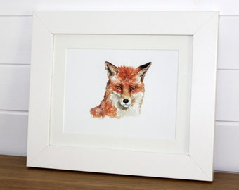 Watercolour Fox Fine Art PRINT