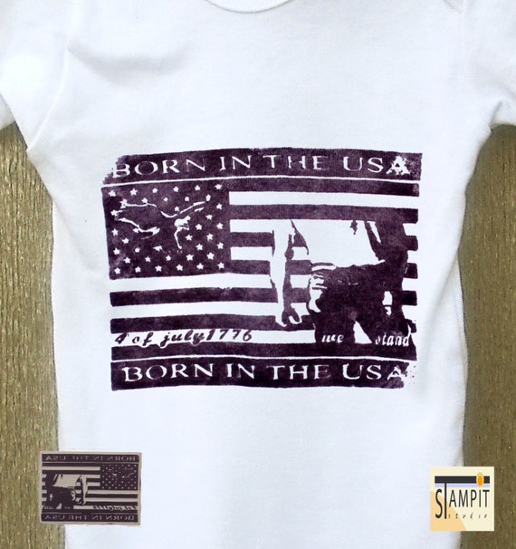 Born In The USA Baby Onesies Bruce Springsteen Cute Baby