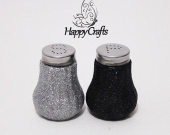 Glitter Salt & Pepper Shakers Set