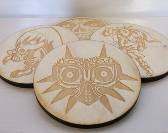 The Legend of Zelda - Majora's Mask Wooden Coasters