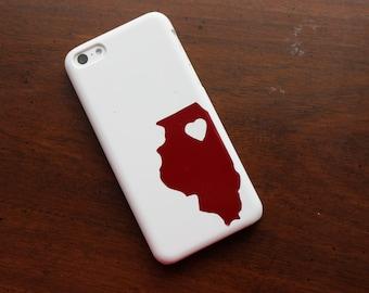 Illinois State Love Sticker, Heart Illinois Vinyl, Love Illinois Sticker, Love Illinois Vinyl, Car Sticker, Phone Sticker