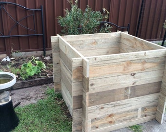 Adjustable height Garden bed Box - woodworking plans