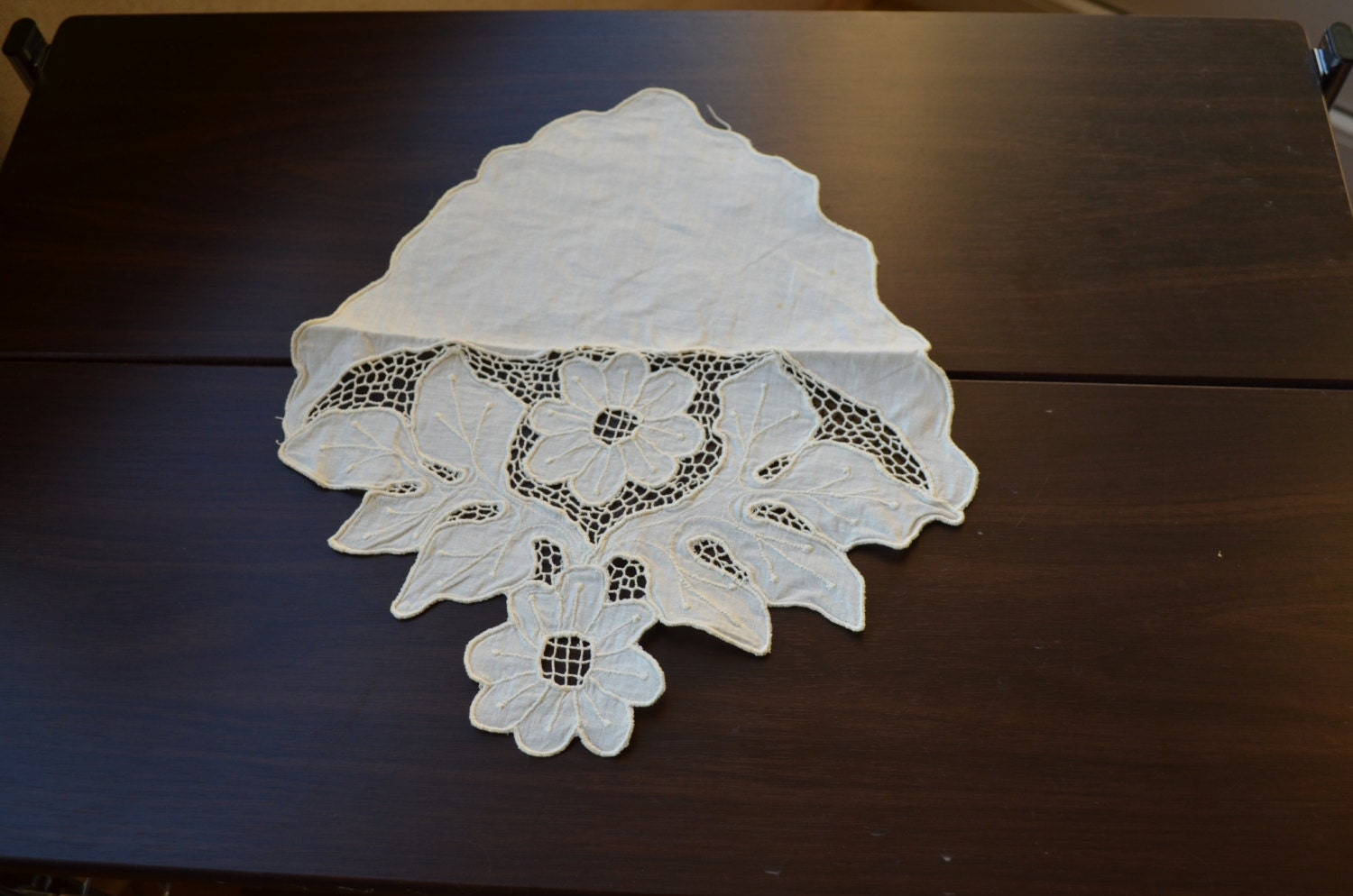 Vintage Decor Napkin for forniture from USSR 50s, Lace decor from USSR, table-na