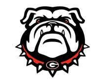UGA Georgia Bulldogs BULLDOG vinyl decal | Available in multiple sizes | OvalCamoBG