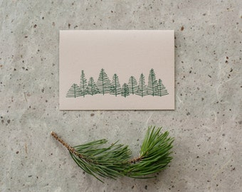 Letterpress Trees Notecard