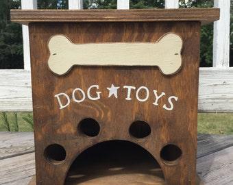 Dog Toy Storage Box with Bone Primitive